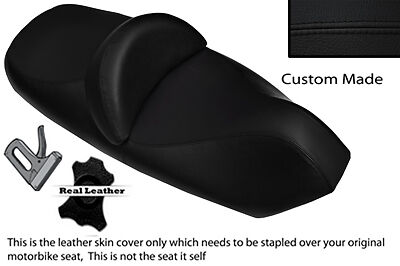 Black Stitch Custom Fits Piaggio X9 125 250 500 Dual Leather Seat Cover