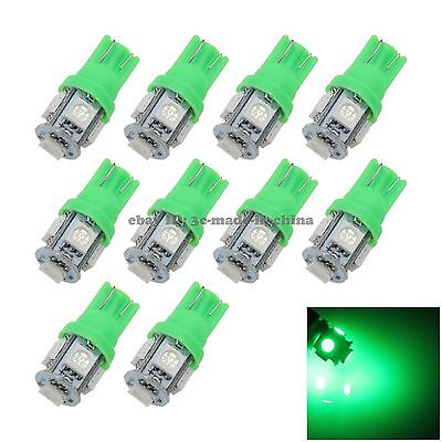 10X Green T10 5 SMD 5050 LED Car Clearance Indicator Lamp Side Light DC 12V A007