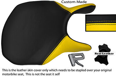 Yellow And Black Custom Fits Ducati 749 999 Front Leather Seat Cover