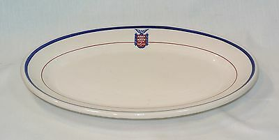 ARMY AND NAVY CLUB OF SAN FRANCISCO Platter Vintage Wallace Restaurant Ware
