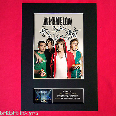 ALL TIME LOW Signed Autograph Mounted Photo REPRO PRINT A4 426
