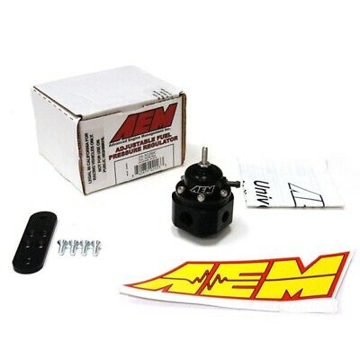AEM UNIVERSAL BILLET FUEL PRESSURE REGULATOR FPR 25-302BK 1000hp -6AN 9/16-18