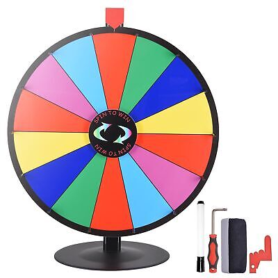 "24"" Tabletop Color Dry Erase Prize Wheel +Stand Fortune Spinning Game Tradeshow"