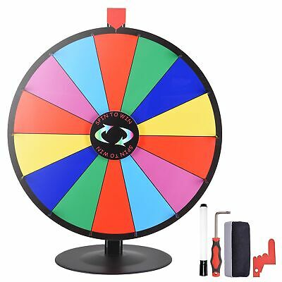 "WinSpin™ 24"" Tabletop Color Dry Erase Prize Wheel Fortune Spin Game Tradeshow"