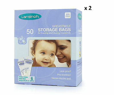 Lansinoh Breastmilk Storage Bags (100 Pieces) - Fast Shipping - Great Price