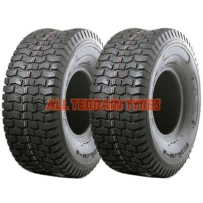 13x5.00-6 TURF TYRES x2 Ride On Lawn Mower Garden Tractor 13x500-6 13 500 6 Tyre