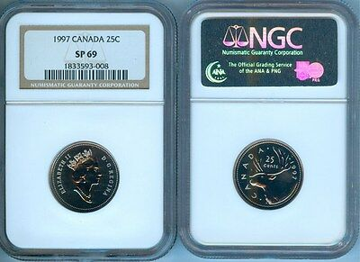 1997 Canada Twenty Five Cents  Ngc Sp-69