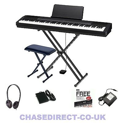 Casio CDP-130 Digital Piano Portable Stage 88 Keys Hammer Fully Weighted Bundle