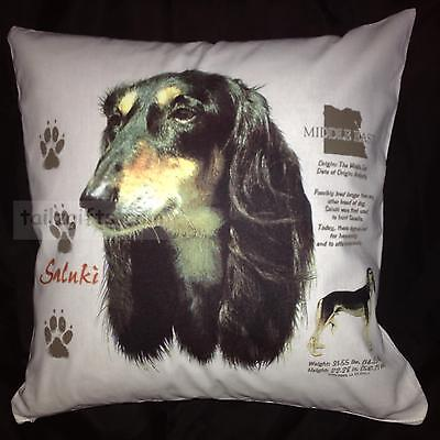 Saluki History Breed of Dog Cotton Cushion Cover - Perfect Gift