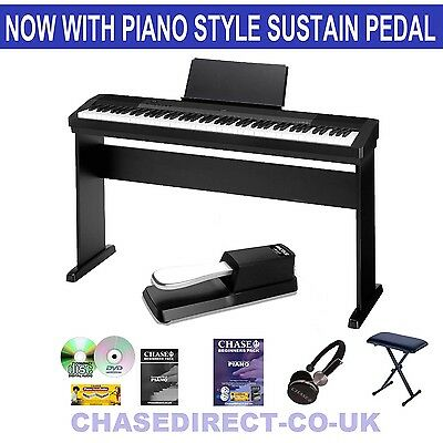 Casio CDP-130 Digital Piano Wooden Stand Pack Portable Stage 88 Weighted Keys