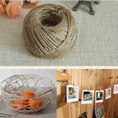 FD107 10M 3-Ply Twisted Burlap String Natural Ribbon Fiber Jute Twine Rope Toy