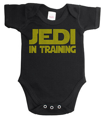 Jedi In Training Star Wars Funny Babygrow Vest Boy Or Girl Baby Grow *Sale* ~