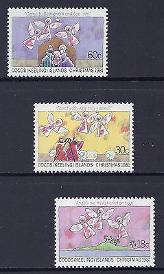 1981 Cocos Islands Christmas Set Of 3 Fine Mint Mnh/muh