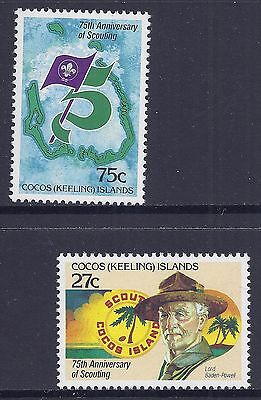 1982 COCOS ISLANDS 75th ANNIVERSARY OF SCOUTING SET OF 2 FINE MINT MNH/MUH