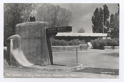 RPPC Entrance to Aztec Ruins National Monument, NM, 1950s, New Mexico