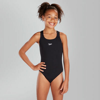 029263 SPORTS DEAL Speedo Junior Girls Medalist Swimming Costume - Black
