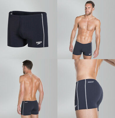 029079 SPORTS DEAL Speedo Endurance+ Mens Classic Aqua Swimming Shorts - Navy
