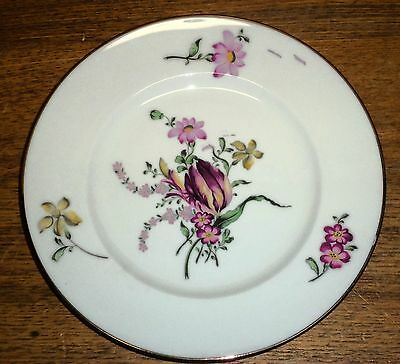 Floral Porcelain Plate - Royal Victoria Fine Bone China England - 8 1/4""