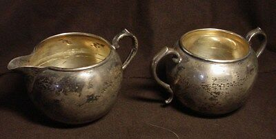 Manchester 897 Sterling Silver Creamer And Sugar Bowl Set 173.9 Grams  #2
