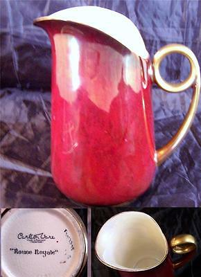 Beautiful Carlton Ware Rouge Royale Pitcher Art Deco
