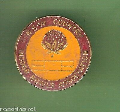 #d103. Nsw Country Indoor Bowls Assoc. Lapel Badge
