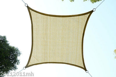 12ft Square Sun Sail Shade Canopy Cover Shelter - Sand