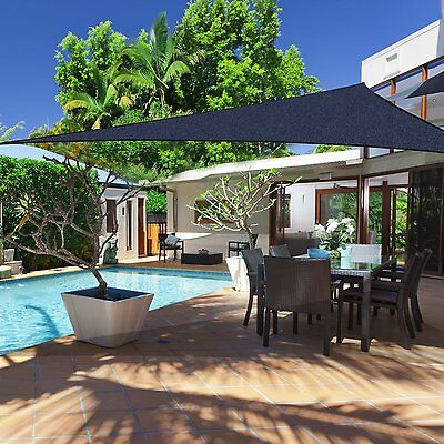 12' Triangle Sun Sail Shade Garden Pool Top Cover Canopy Blue Brand New