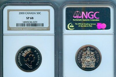 2000  Canada  50 Cents Ngc  Sp68 Second    Finest Graded