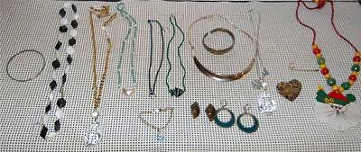 Jewelry Drawer Mixed Lot of Costume jewelry-Neckaces-Pins-Earrings-Etc Art Deco