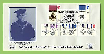 G.B. 1990 Gallantry set on official First Day Cover, Baden Powell House