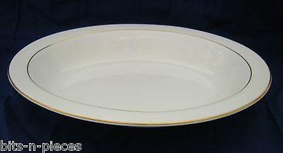 WEDGWOOD GLOUCESTER  W3988 Oval Open Vegetable serving bowl white & gold