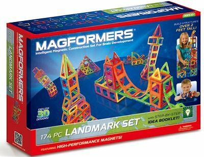 Magformers Landmark 174 Piece Magnets Magnetic Construction Set NEW 63103