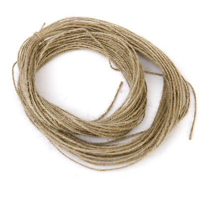 32Yards DIY Natural Jute Twine String Cord Wedding Craft Making 2 Ply 2mm