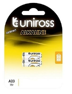 2 x A23 UNiROSS  Alkaline Batteries 12v