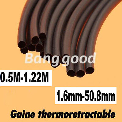 0.5M-1.22M Gaine thermodurcissable thermo-rétractable Ratio2:1 diam 1.6mm-50.8mm