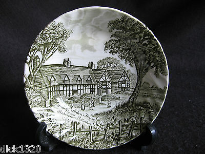 """VINTAGE ROYAL ESSEX 'SHAKESPEARES COUNTRY' 5"""" FLUTED DESSERT BOWL 1950's"""
