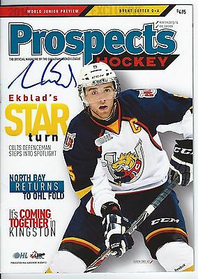 Aaron EKBLAD Signed PROSPECTS Magazine BARRIE COLTS