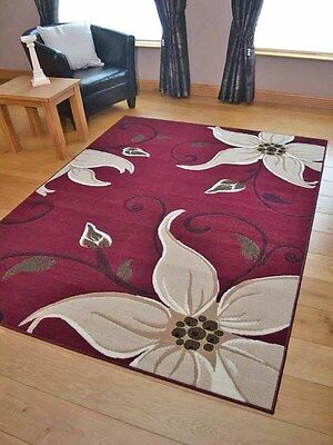 Dark Red Wine Lily Small Extra Large Hall Runners Floor Carpet Mats Rugs Cheap