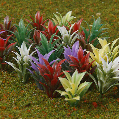 100pcs Model Flowering Plants for Architectural Railroad Scenery Scale 1:100