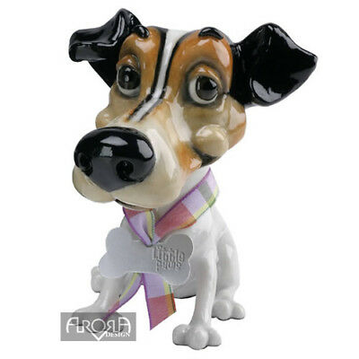Little Paws   Wilf the Jack Russell Figurine  NEW in BOX FREE P&P