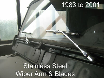 Stainless Steel Wiper Arm Blades Defender 1984 through to 2001 LHD