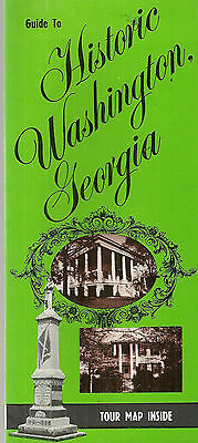 Washington Georgia Map.Vintage Brochure For Washington Georgia 9 99 Picclick