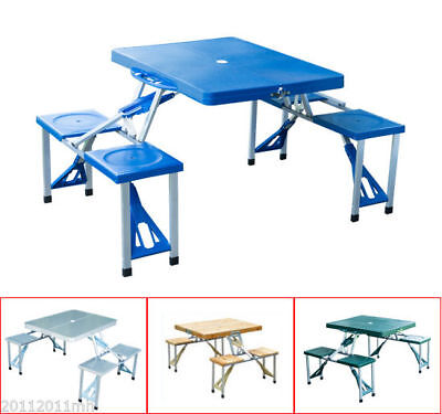 Outsunny Portable Junior Picnic Table Folding Camping Table w/ 4 Seats Outdoor
