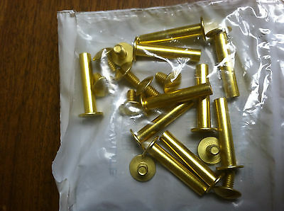 """Screw Post 1"""" Pack Of 10 Aluminum, Brass Finished"""
