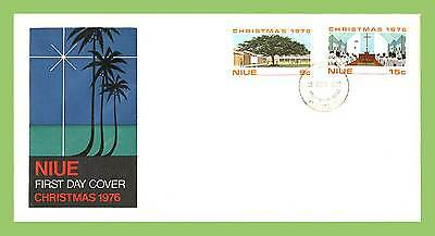 Niue 1976 Christmas set First Day Cover