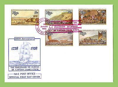 Niue 1978 Cook Discovery Anniversary set First Day Cover