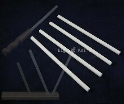 Lot of 4 Ceramic Knife Sharpener Sharpening Stick Rods
