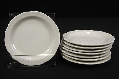 NOS Restaurant Ware Buffalo China Caprice 8 Salad Bread Butter Plates Scalloped