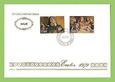 Niue 1979 Easter paintings set First Day Cover