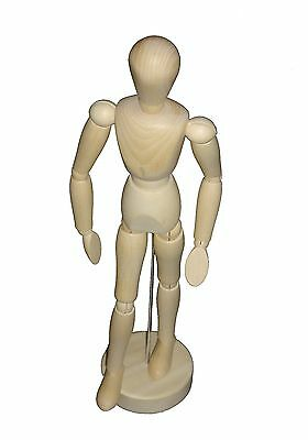 "16"" ARTISTS WOODEN SKETCH SKETCHING MANNEQUIN MANIKIN LAY FIGURE BENDY MAN 40cm"